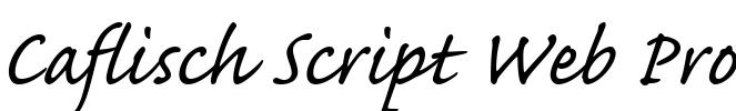 Caflisch Script Web Pro