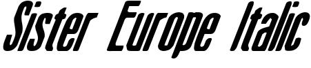 Sister Europe Italic