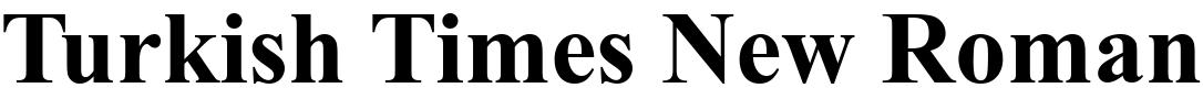 Turkish Times New Roman
