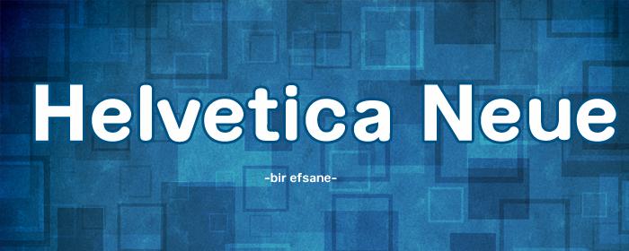 Helvetica Türkçe