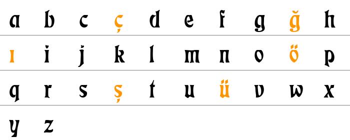 EckmannD Küçük Harfler