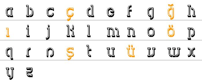 HVD Spencils Küçük Harfler