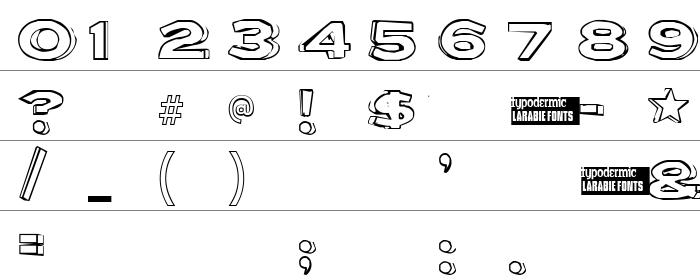 Letter Set B Rakam ve İşaretler