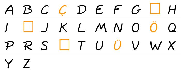 QuillScript Büyük Harfler