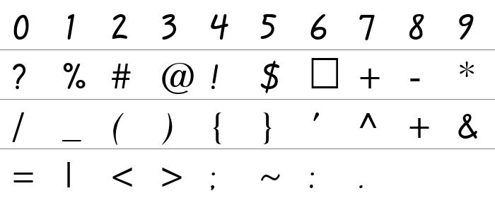 QuillScript Rakam ve İşaretler