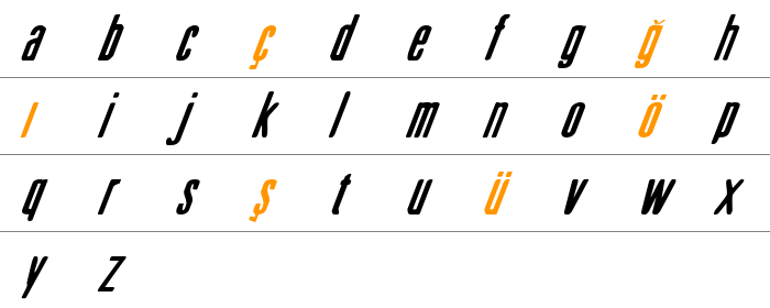Sister Europe Italic Küçük Harfler