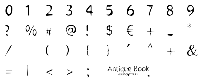 Antique Book Rakam ve İşaretler