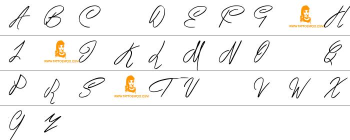 Berty Script Büyük Harfler