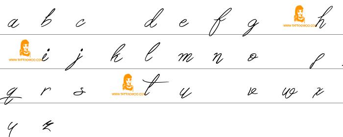 Berty Script Küçük Harfler