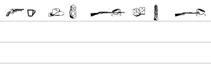 Cornucopia of Dingbats Seven Rakam ve İşaretler