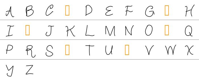 Crappy Font Büyük Harfler