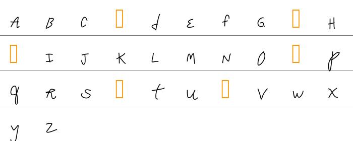 Crappy Font Küçük Harfler