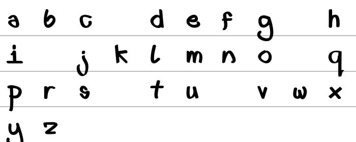 First font lower fat Büyük Harfler
