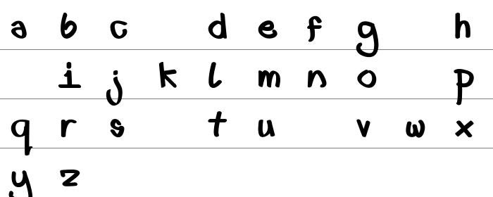 First font lower fat Küçük Harfler