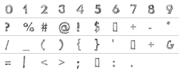 Ghotic Sketch Rakam ve İşaretler