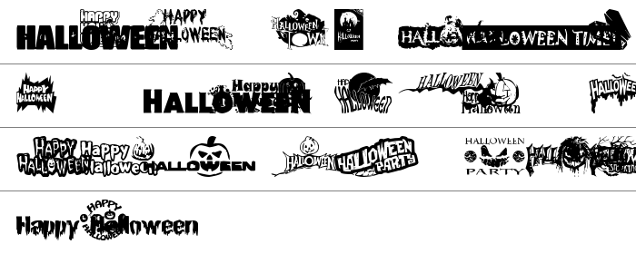 Halloween Logo Büyük Harfler
