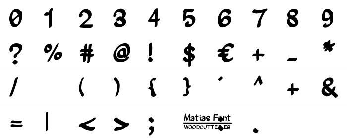 Matias Font Rakam ve İşaretler