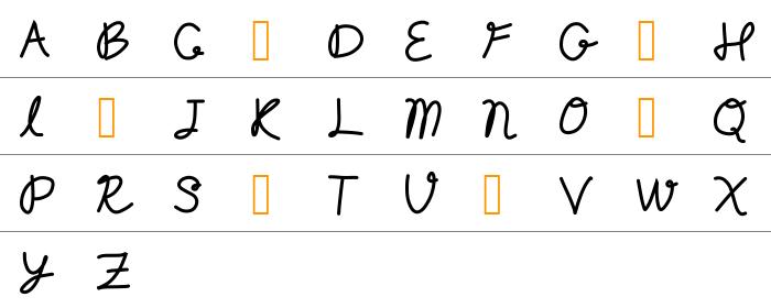 Random Type Büyük Harfler
