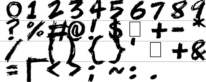 Scribble Scrawl Rakam ve İşaretler