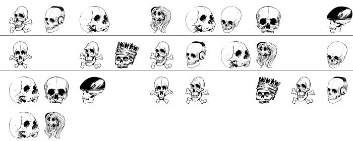 Skull Font Büyük Harfler