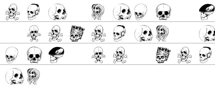 Skull Font Küçük Harfler