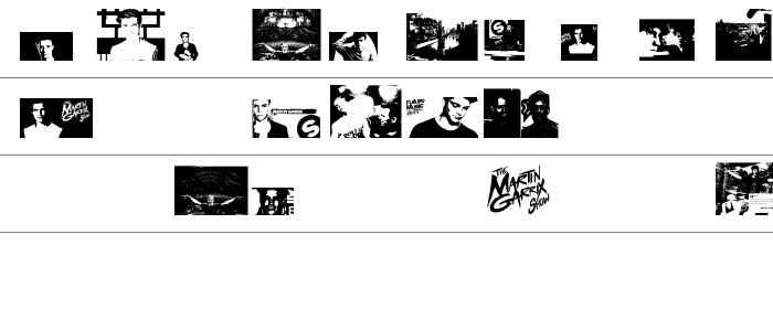 The Martin Garrix Font Rakam ve İşaretler