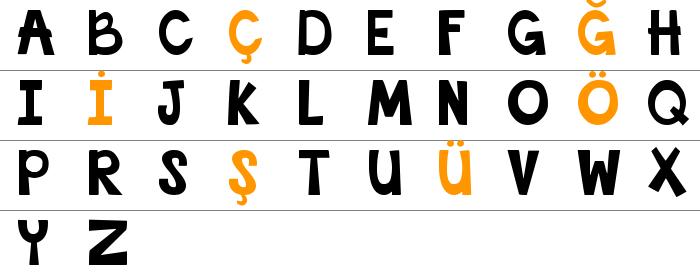 This Font Is Bold Büyük Harfler