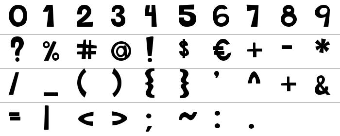 This Font Is Bold Rakam ve İşaretler